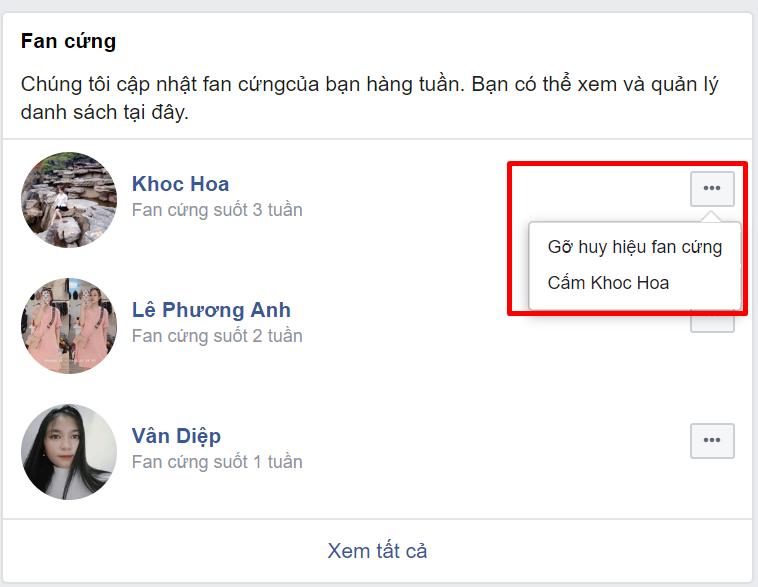 Huong Dan Tat Hoac Bat Lai Huy Hieu Fan Cung Tren Fanpage Facebook Bi Mat 4